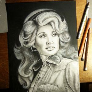 Dolly. Charcoal and graphite on bristol